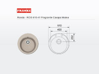 - мойка FRANKE Ronda - ROG 610-41 Fragranite сахар