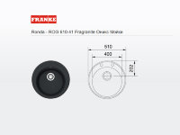 - мойка FRANKE Ronda - ROG 610-41 Fragranite оникс